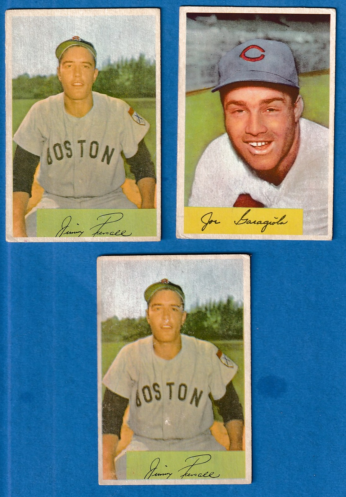 1954 Bowman 66a Jimmy Piersall Red Sox