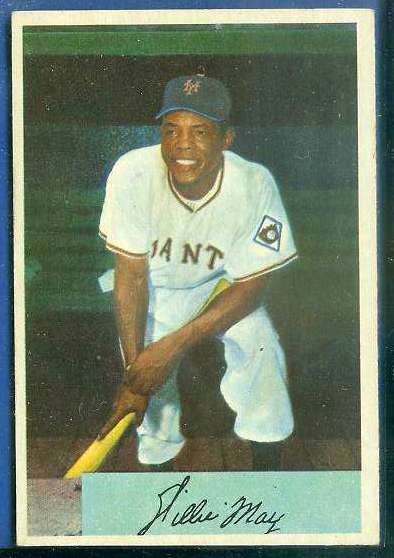 1954 Bowman # 89 Willie Mays [#a] (New York Giants) Baseball cards value