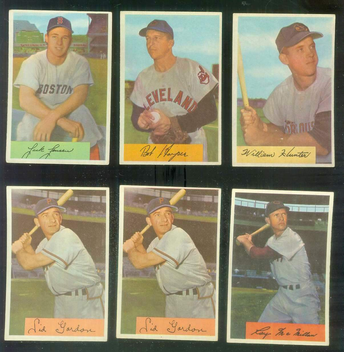 1954 Bowman #..5 William Hunter (Orioles) Baseball cards value