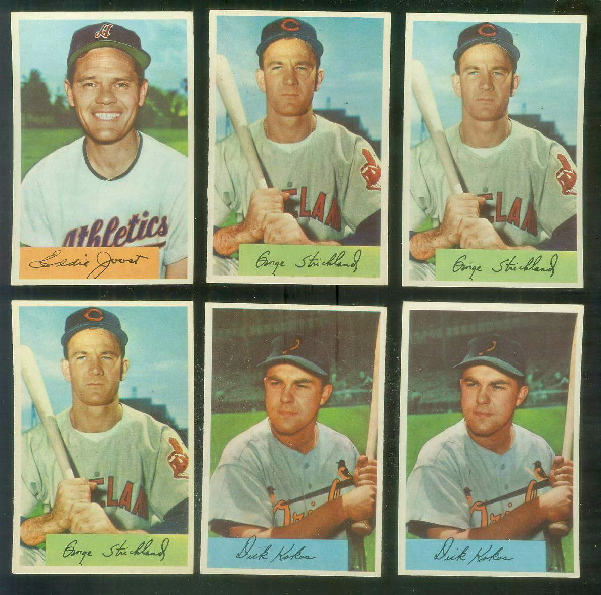 1954 Bowman # 36 George Strickland (Indians) Baseball cards value