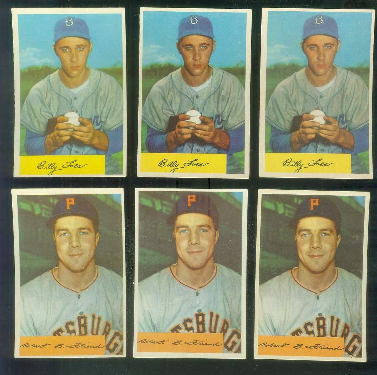 1954 Bowman # 42 Billy Loes (Brooklyn Dodgers) Baseball cards value