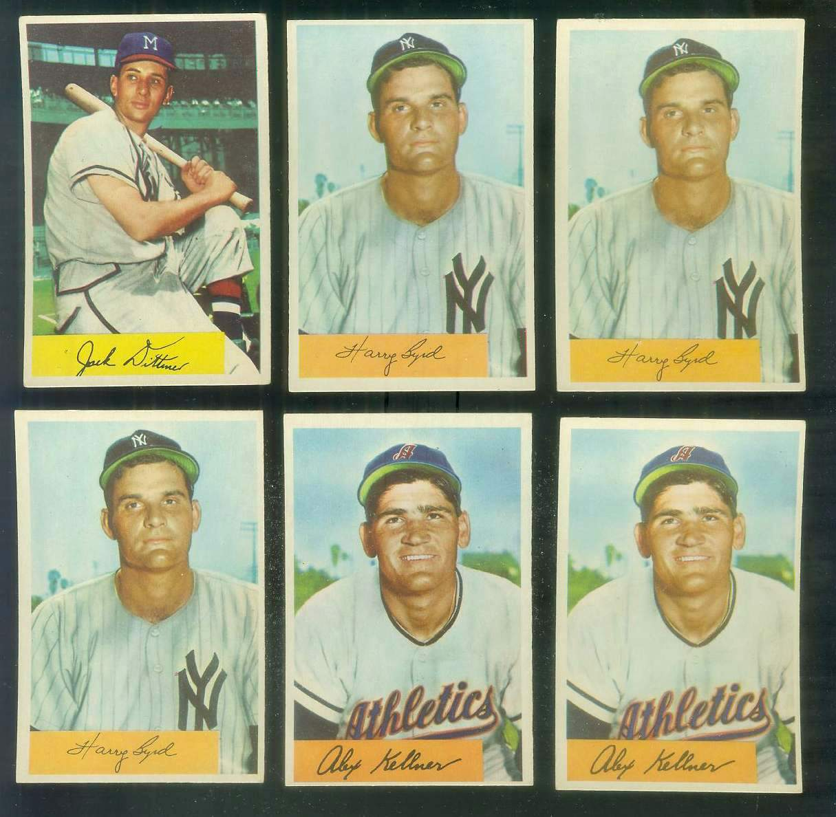 1954 Bowman # 51 Alex Kellner (Philadelphia A's) Baseball cards value
