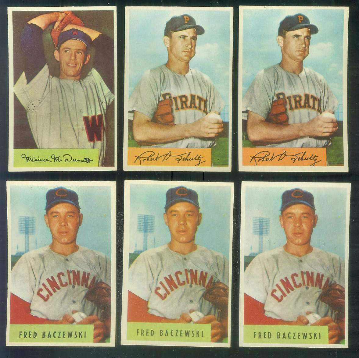1954 Bowman #.56 Maurice McDermott (Senators) Baseball cards value