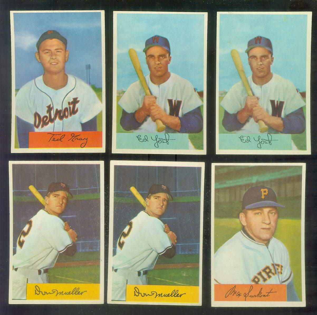 1954 Bowman # 72 Ed Yost (Senators) Baseball cards value