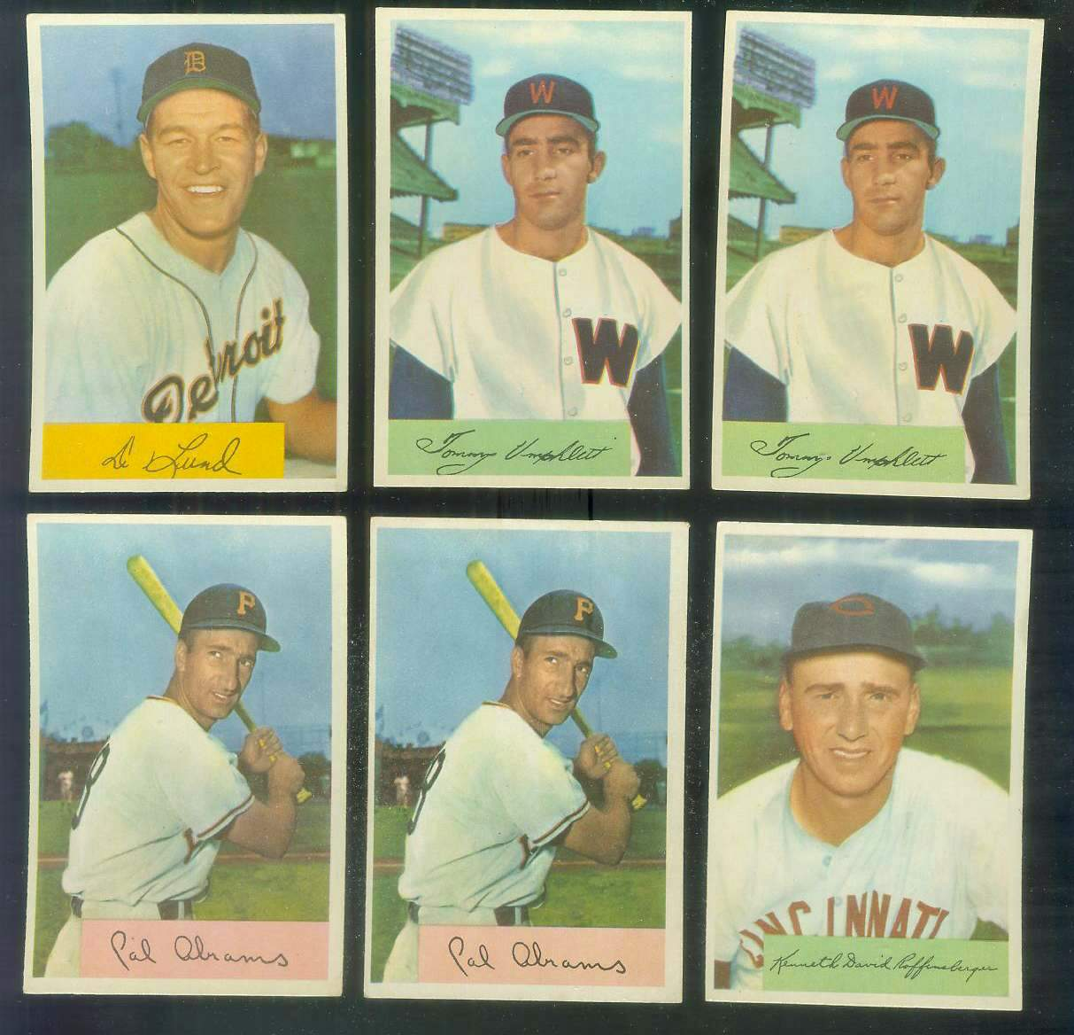 1954 Bowman #.88 Tommy Umphlett ROOKIE (Senators) Baseball cards value