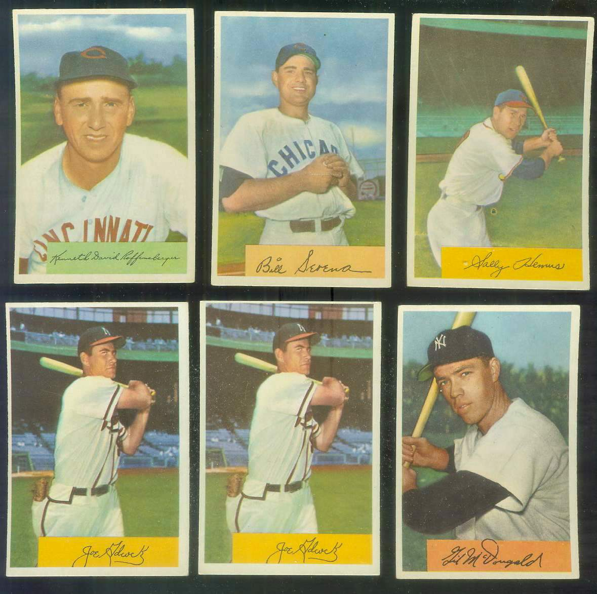 1954 Bowman #.96 Joe Adcock (Braves) Baseball cards value