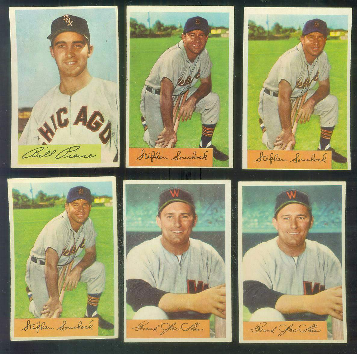 1954 Bowman #103A Stephen Souchock ERROR VARIATION '144/1192 PO' (Tigers) Baseball cards value