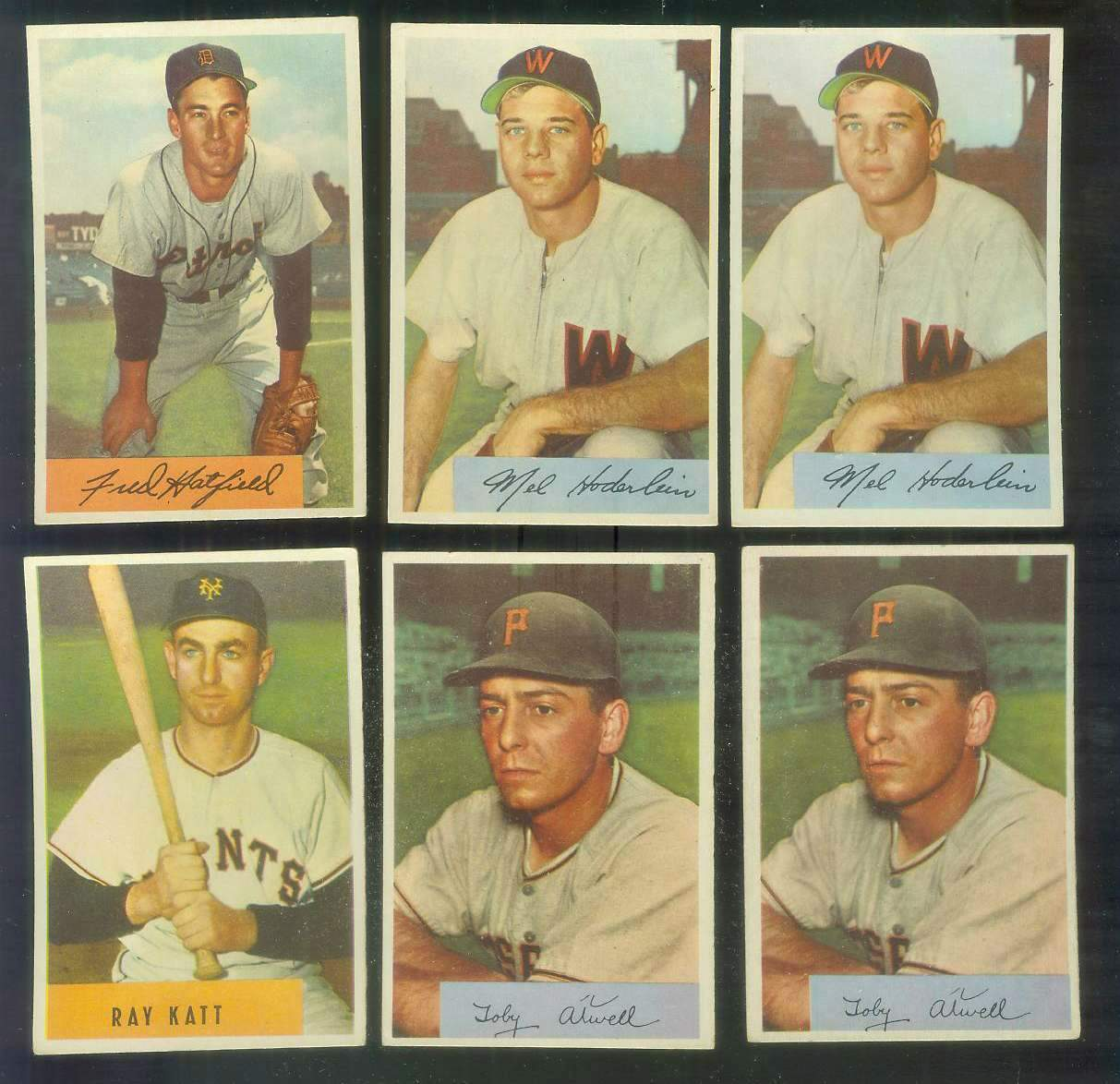 1954 Bowman #120 Mel Hoderlein ROOKIE (Senators) Baseball cards value
