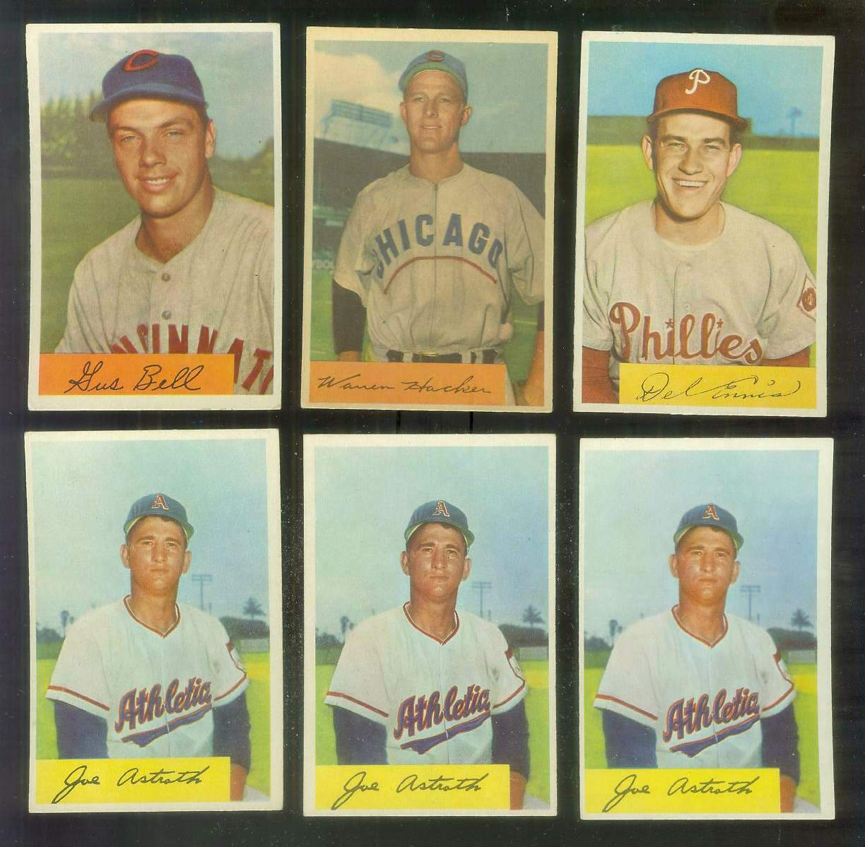 1954 Bowman #125 Warren Hacker [#x] (Cubs) Baseball cards value