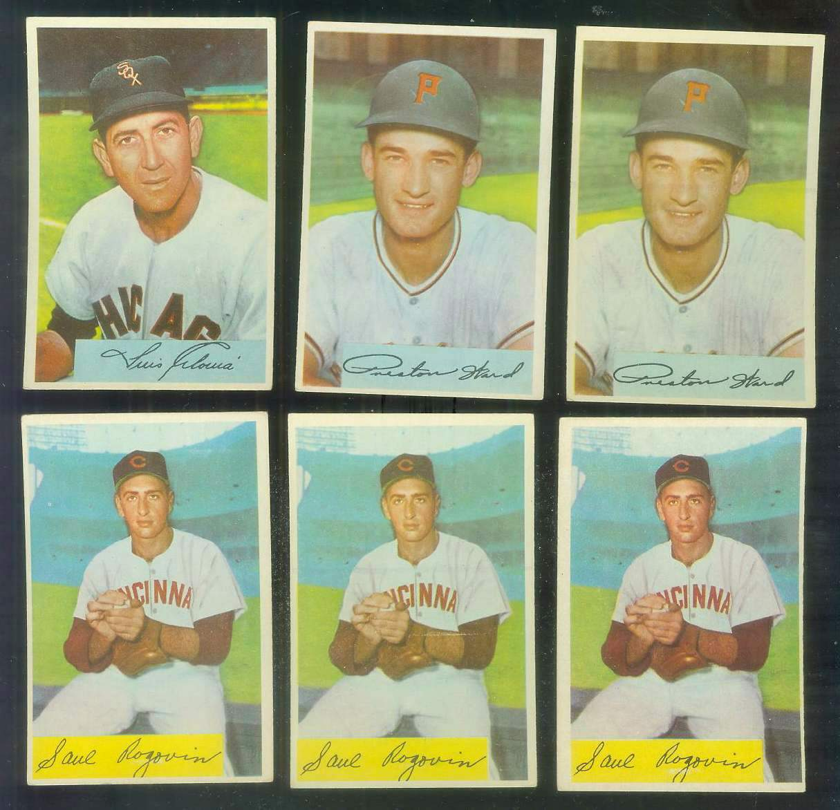 1954 Bowman #140B Saul Rogovin VARIATION 'Won 7, 62 SO' (Reds) Baseball cards value