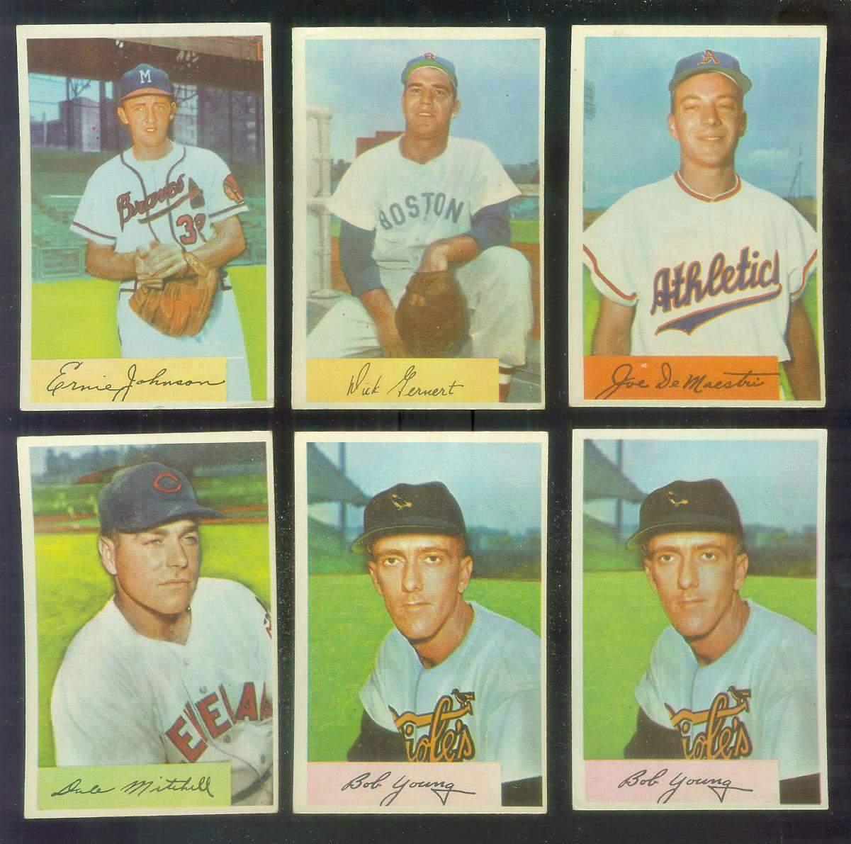 1954 Bowman #149 Bob Young (Orioles) Baseball cards value