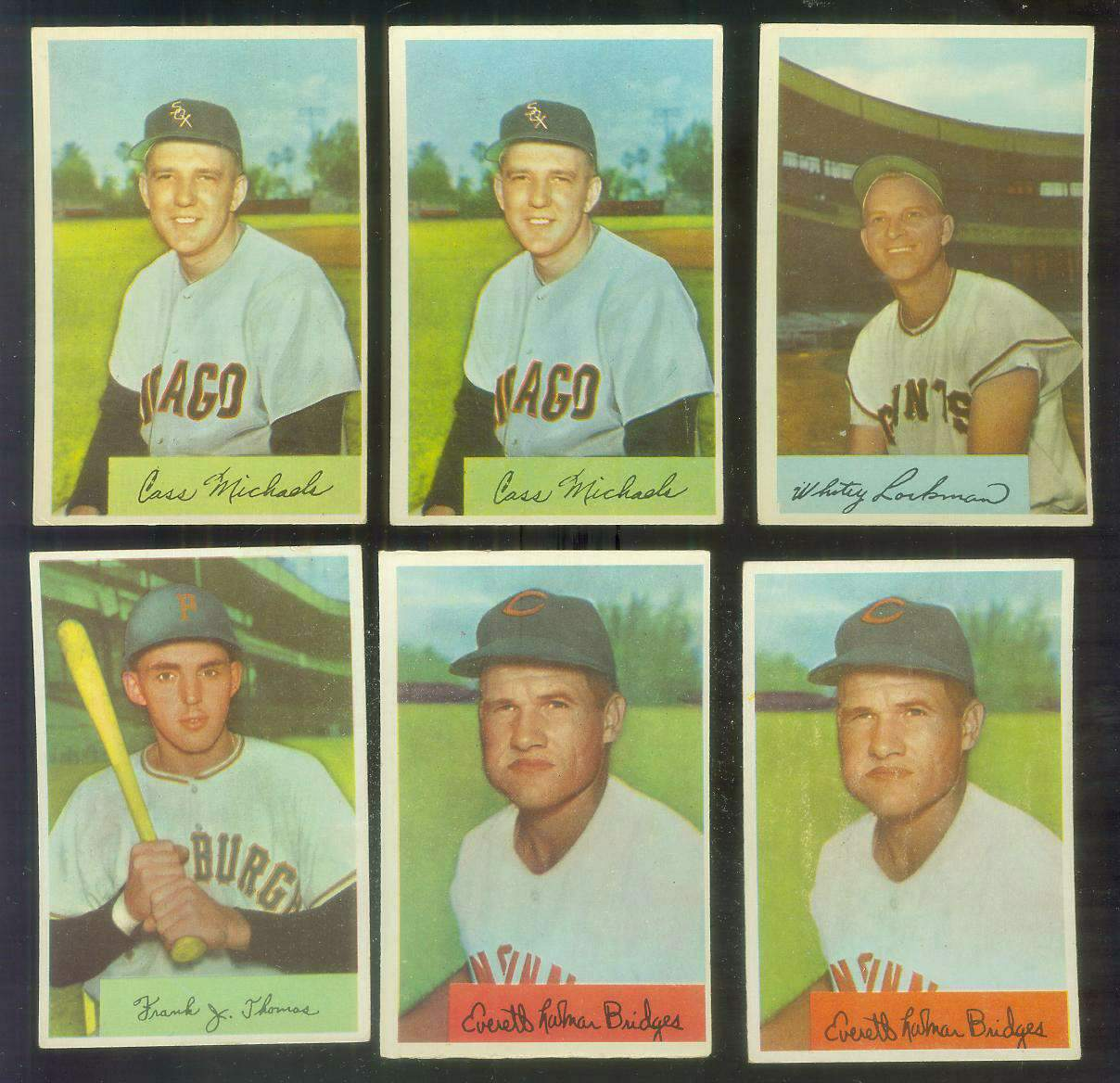 1954 Bowman #156B Rocky Bridges CORRECTED VARIATION '328/475 As.' [#x](Reds Baseball cards value