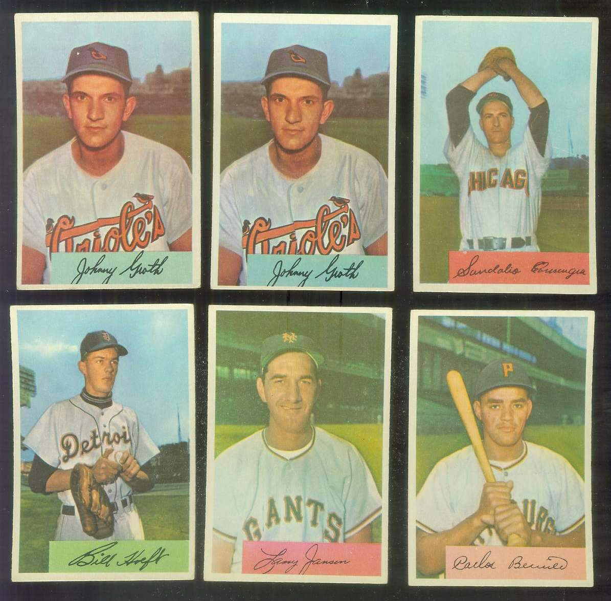 1954 Bowman #165 Johnny Groth (Orioles) Baseball cards value