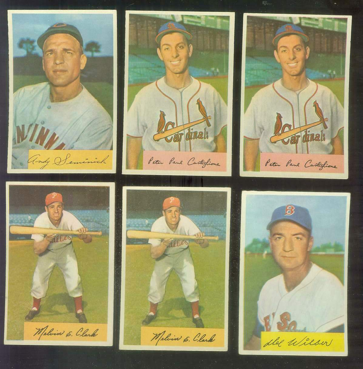 1954 Bowman #172 Andy Seminick (Reds) Baseball cards value