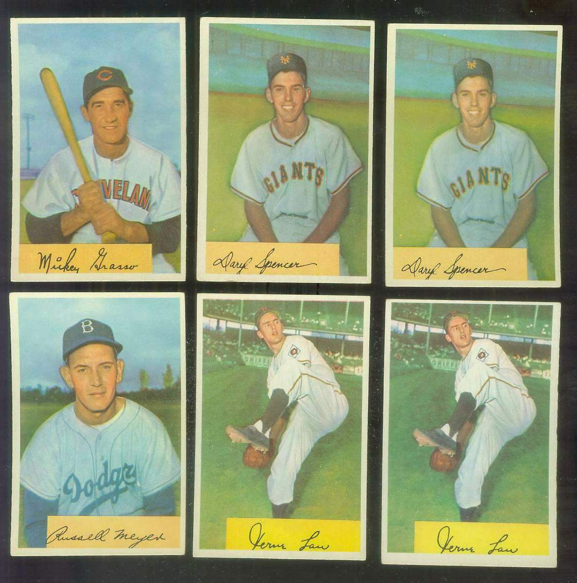1954 Bowman #185B Daryl Spencer ROOKIE VARIATION '.933/.936 FA' (Giants) Baseball cards value