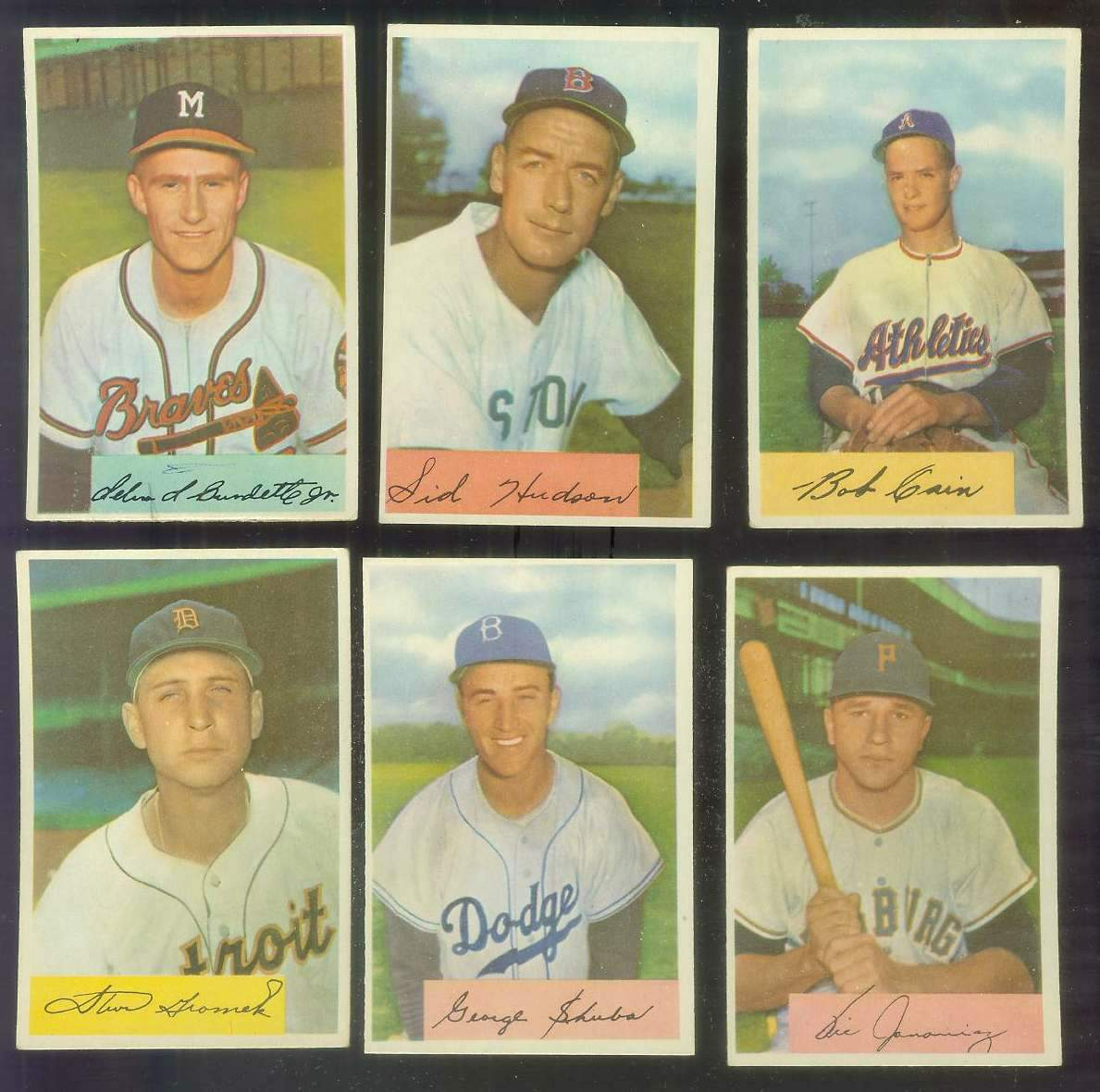 1954 Bowman #195 Bob Cain (Philadelphia A's) Baseball cards value