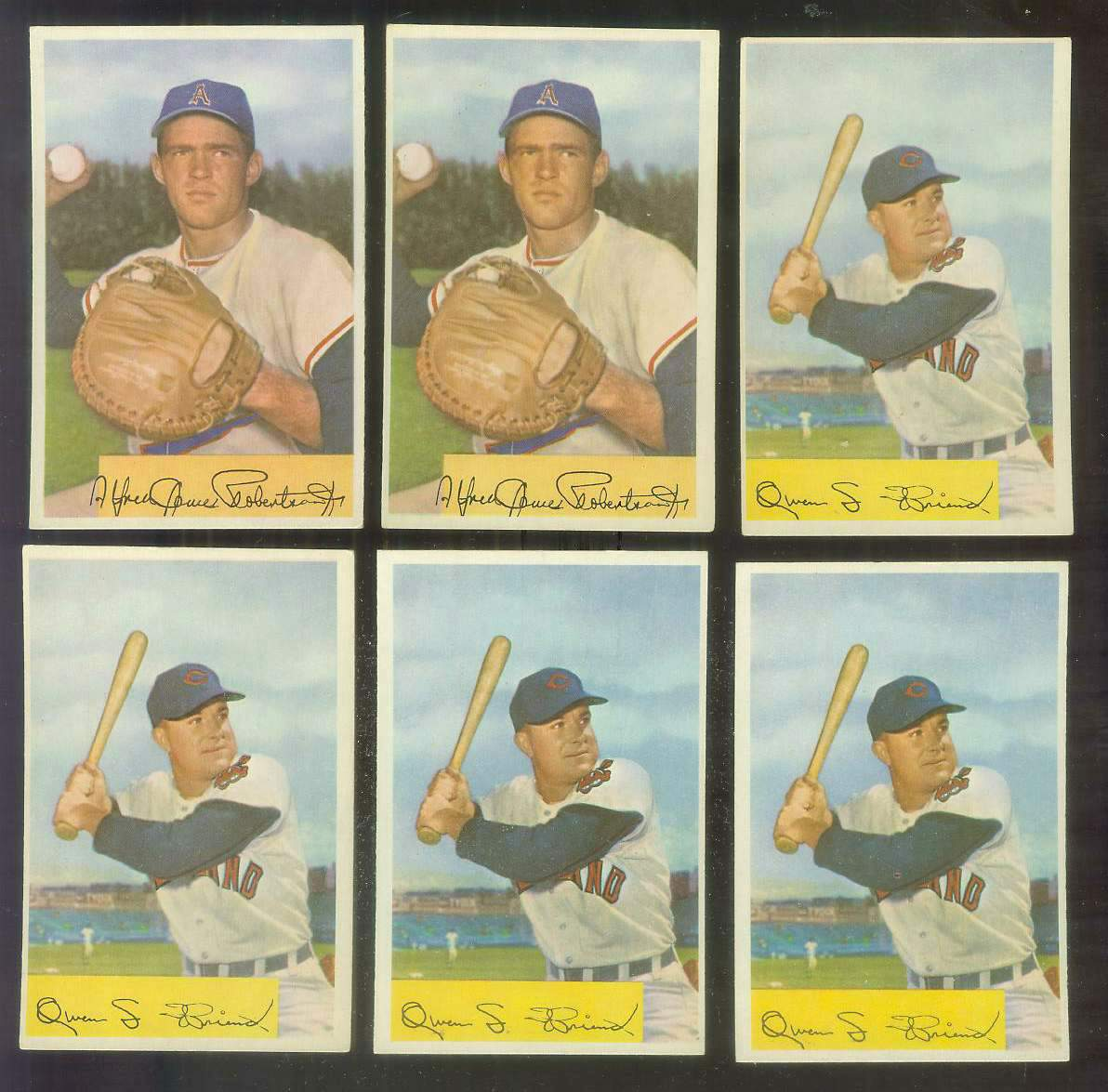1954 Bowman #212A Owen L. Friend ERROR VARIATION '.964/.957 FA' (Indians) Baseball cards value