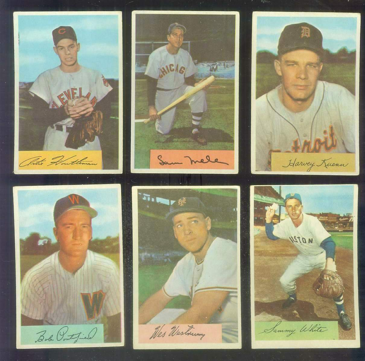 1954 Bowman #.24 Bob Porterfield [#x] (Senators) Baseball cards value