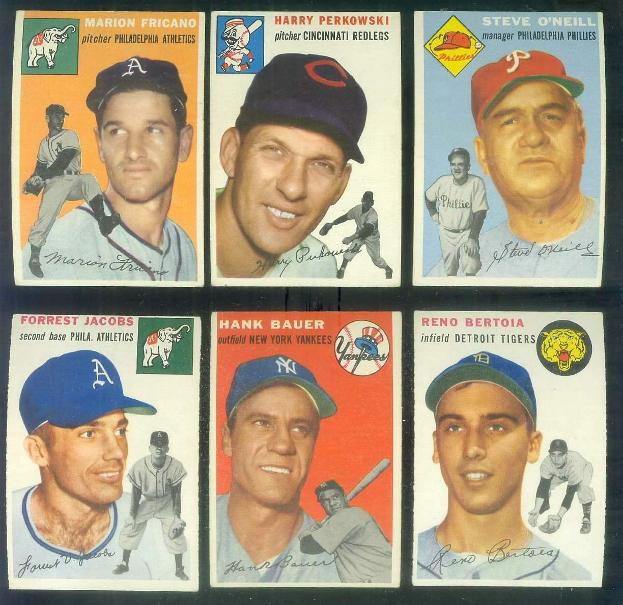 1954 Topps #131 Reno Bertoia [#x] (Tigers) Baseball cards value