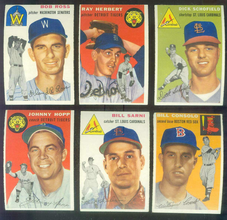 1954 Topps #193 Johnny Hopp COACH [#x] (Tigers) Baseball cards value