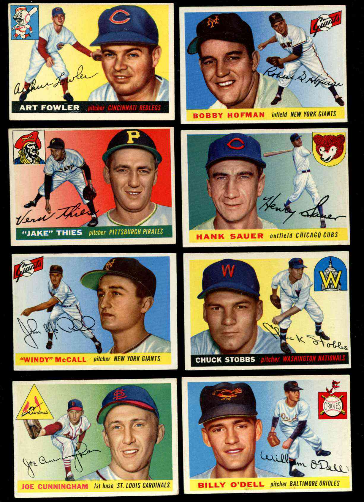 1955 Topps #.37 Joe Cunningham ROOKIE [#x] (Cardinals) Baseball cards value