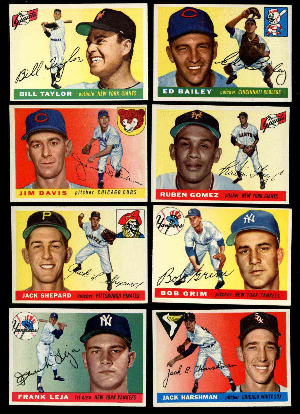1955 Topps #.99 Frank Leja [#x] (Yankees) Baseball cards value