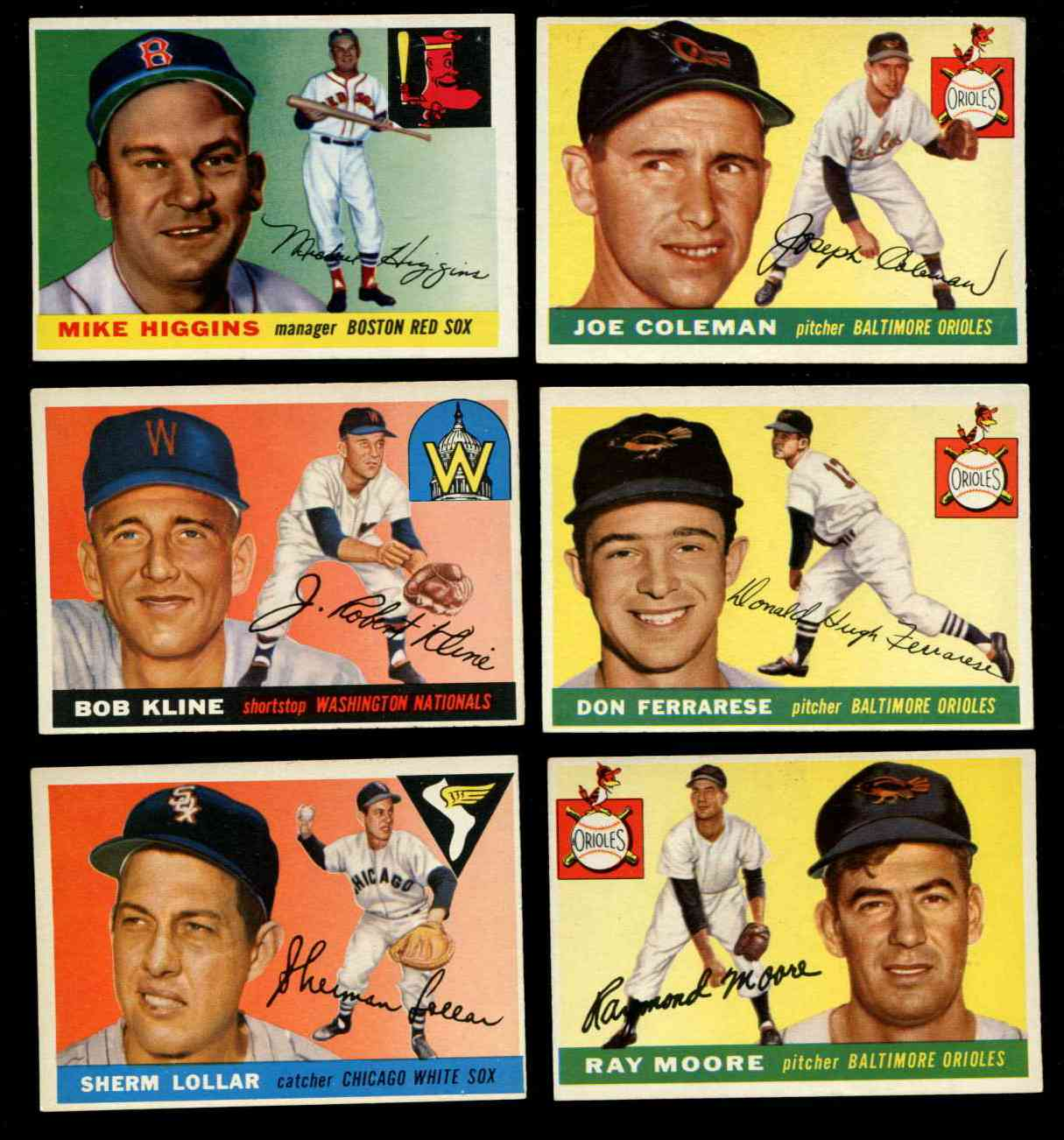 1955 Topps #150 Mike Higgins [#x] (Red Sox Manager) Baseball cards value