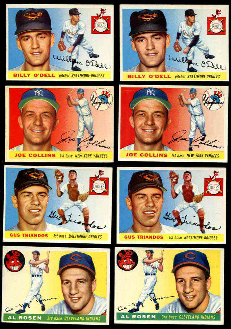 1955 Topps # 57 Billy O'Dell (Orioles) Baseball cards value