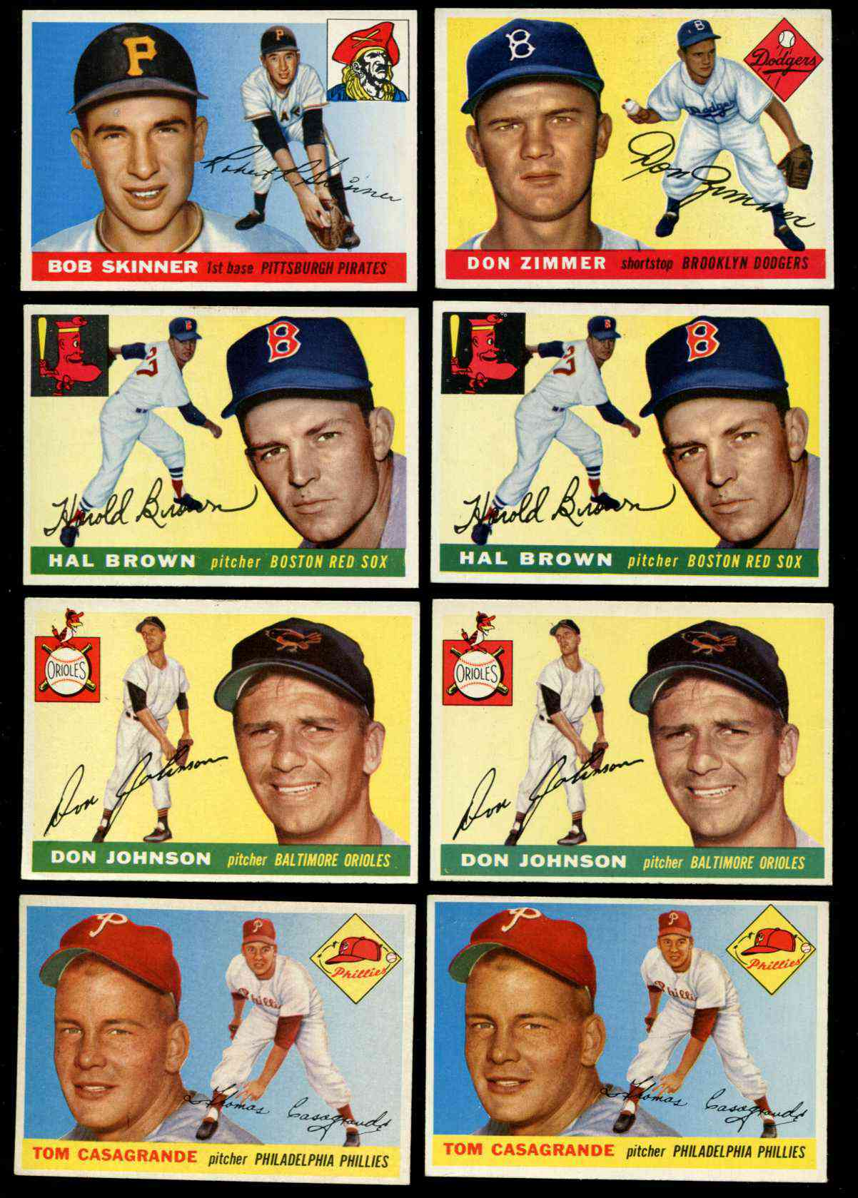1955 Topps #148 Hal Brown (Red Sox) Baseball cards value