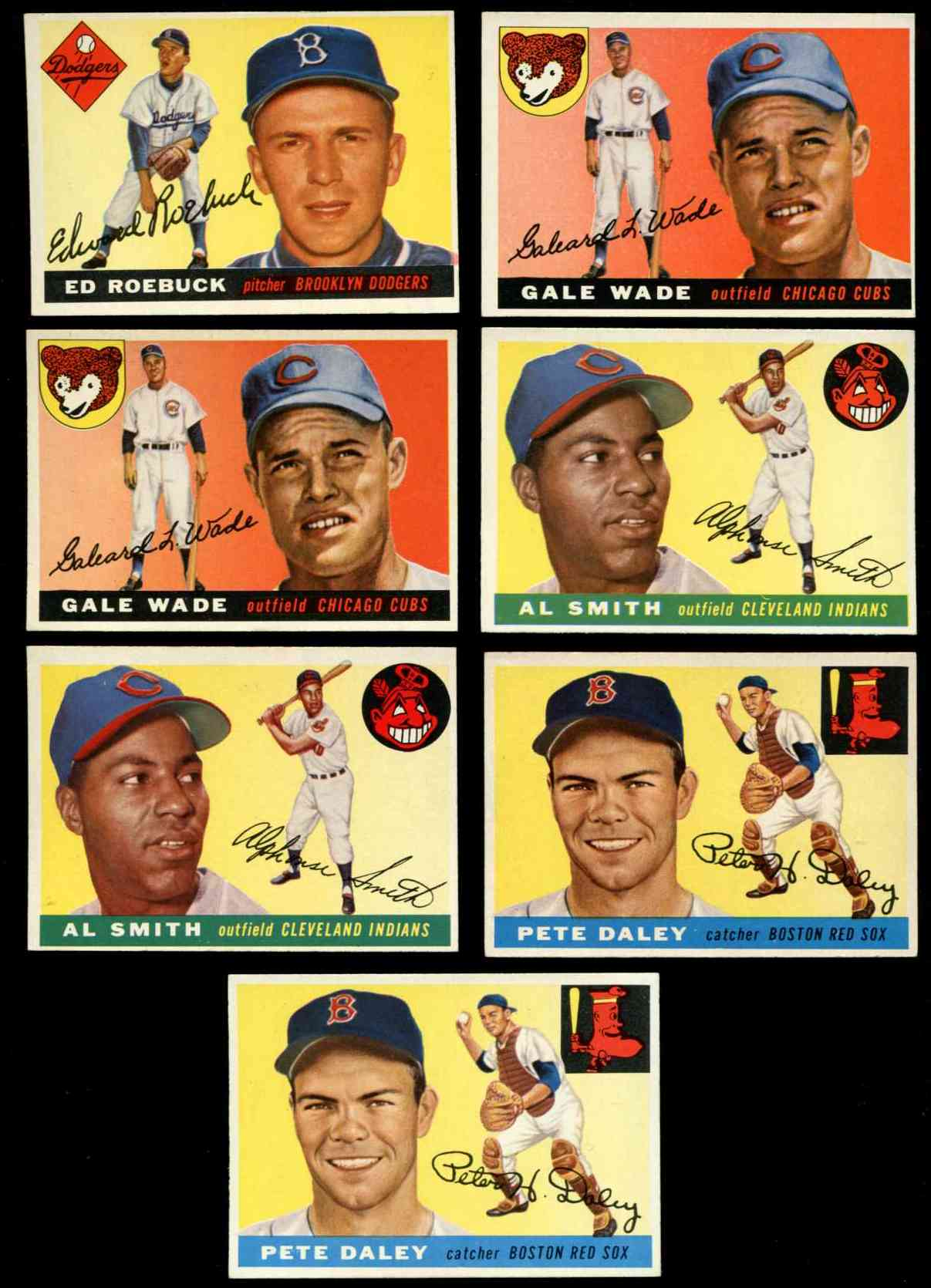 1955 Topps #195 Ed Roebuck ROOKIE SCARCE HIGH NUMBER (Brooklyn Dodgers) Baseball cards value