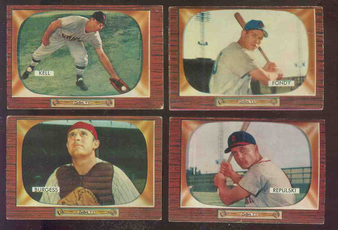 1955 Bowman #224 Dee Fondy [#x] (Cubs) Baseball cards value