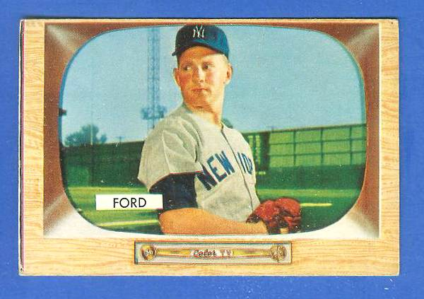 1955 Bowman #.59 Whitey Ford [#bsc] (Yankees) Baseball cards value
