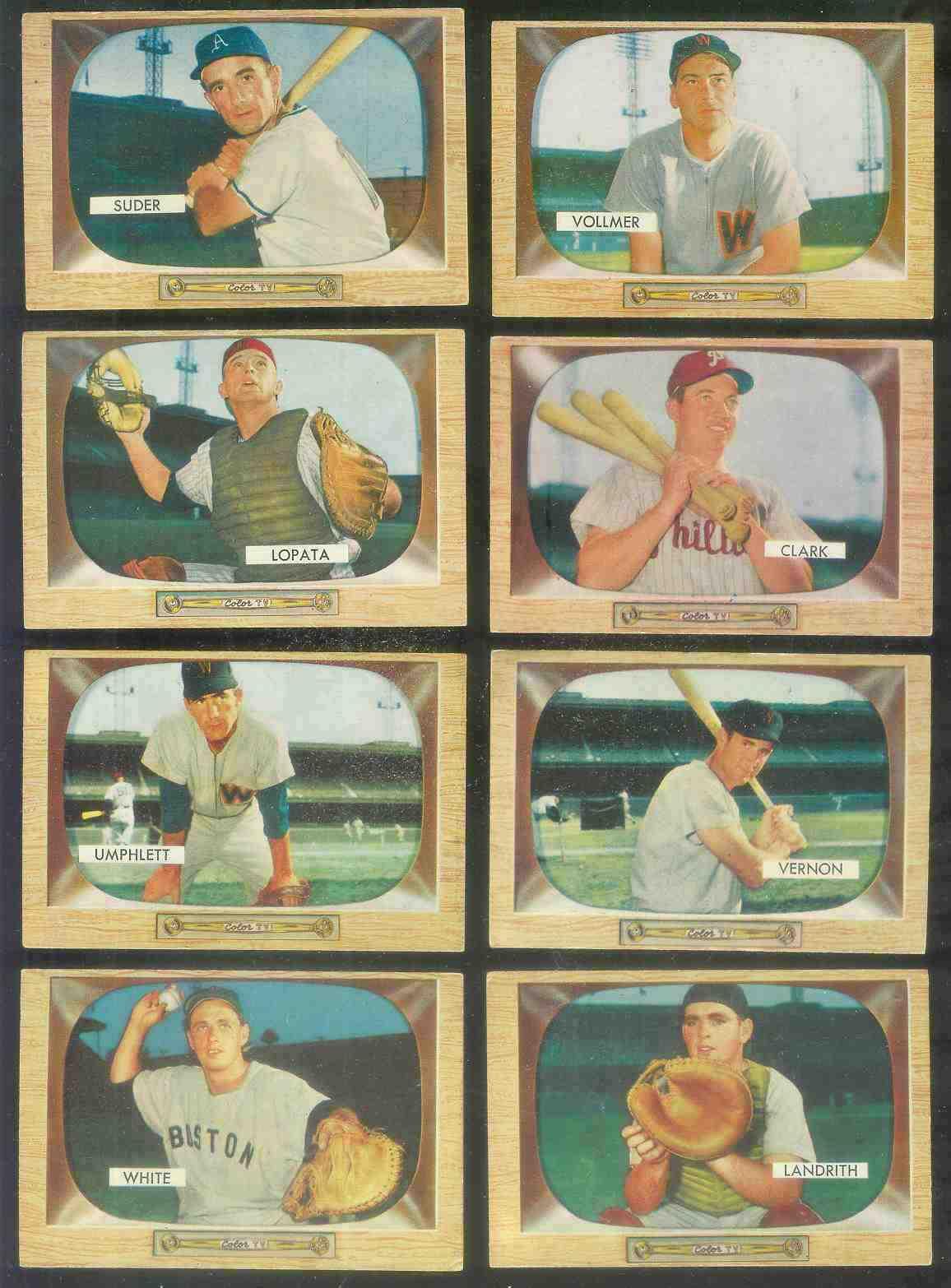 1955 Bowman #.50 Hobie Landrith [#x] (Reds) Baseball cards value
