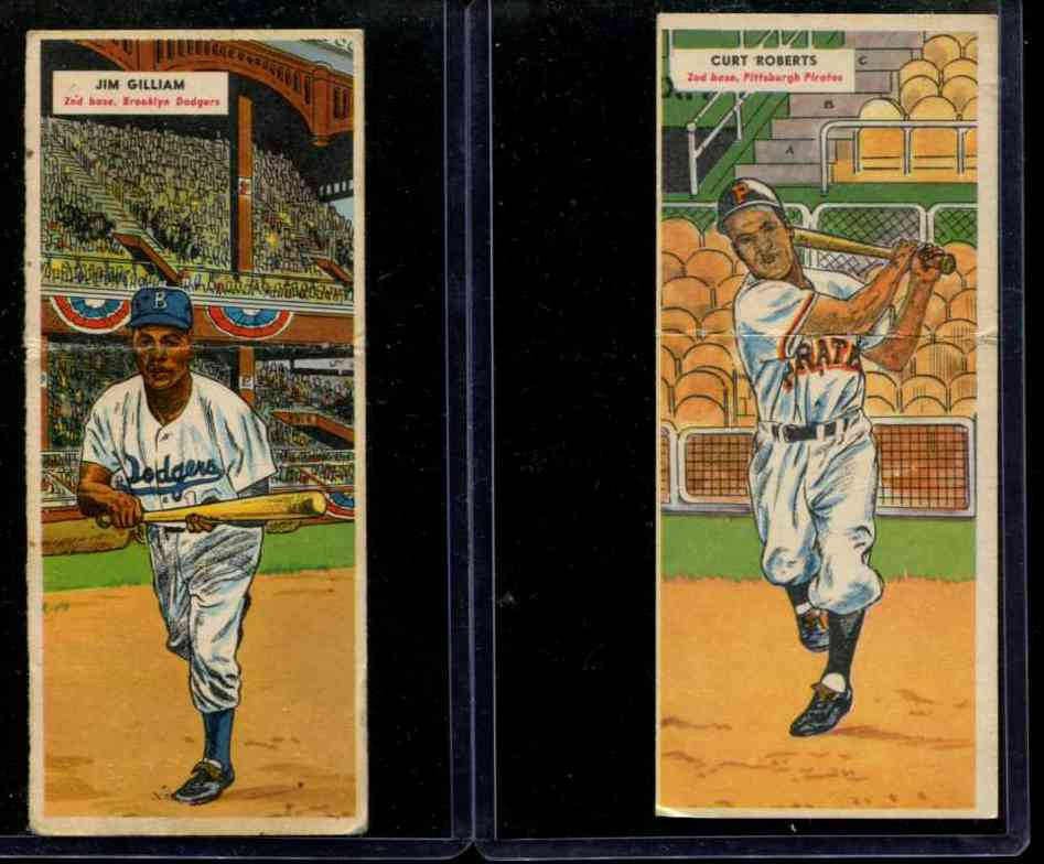 1955 Topps Double Header #129 Junior Gilliam / #130 Ellis Kinder [#x] Baseball cards value