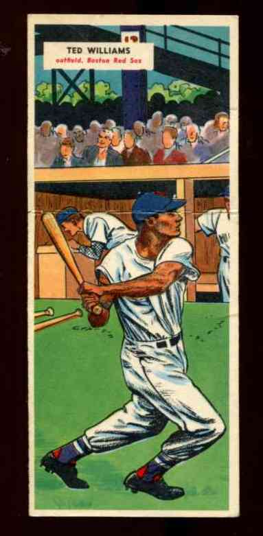 1955 Topps Doubleheader 69 Ted Williams 70 Hal Smith