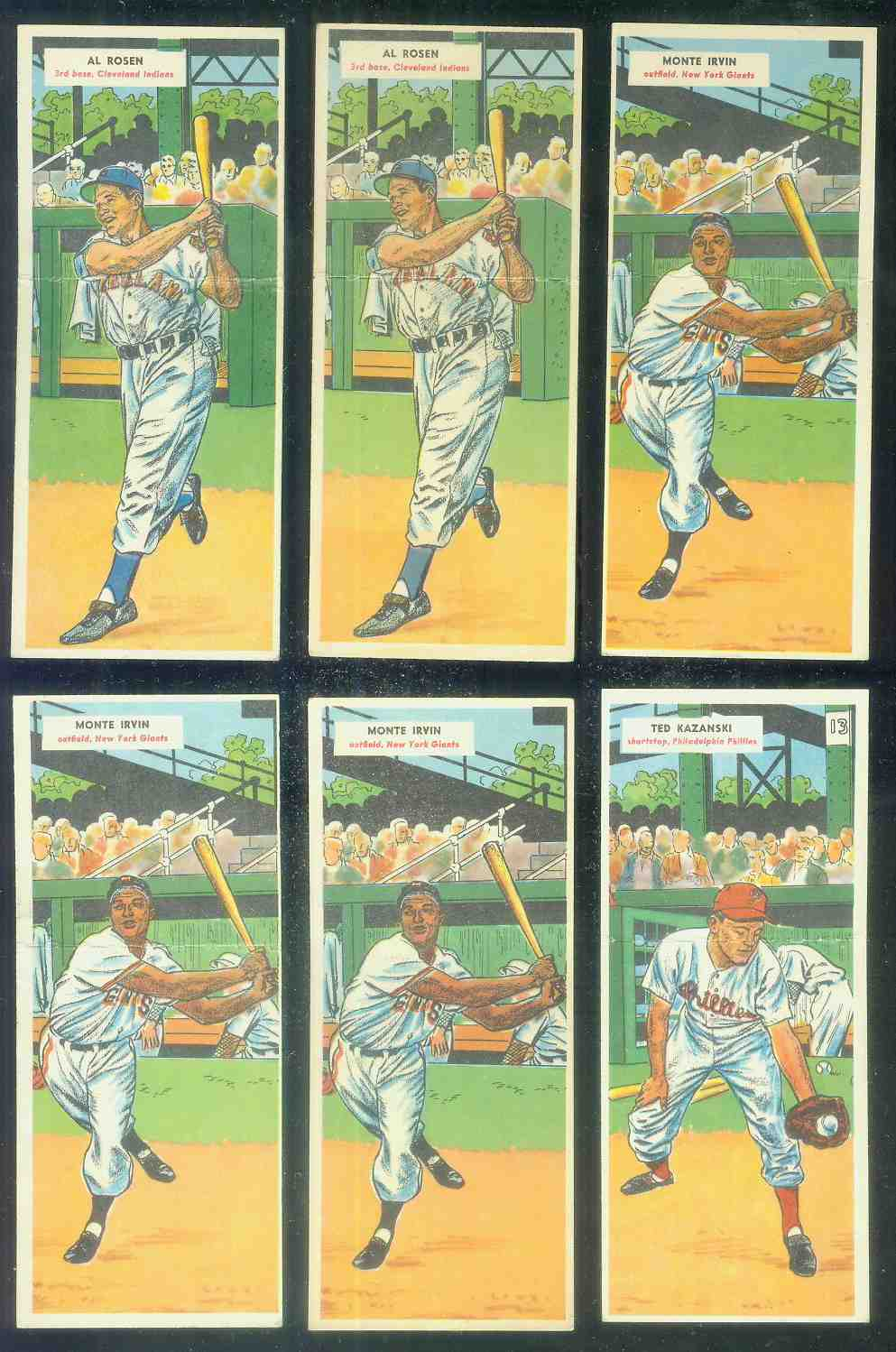1955 Topps Double Header #..1 Al Rosen / #2 Chuck Diering Baseball cards value