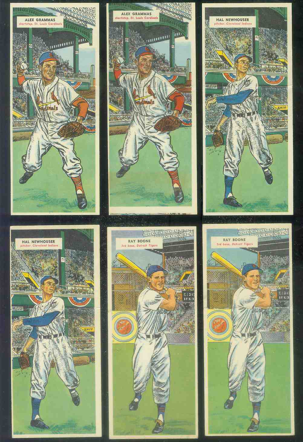 1955 Topps Double Header #109 Hal Newhouser ROOKIE / #110 Chuck Bishop Baseball cards value