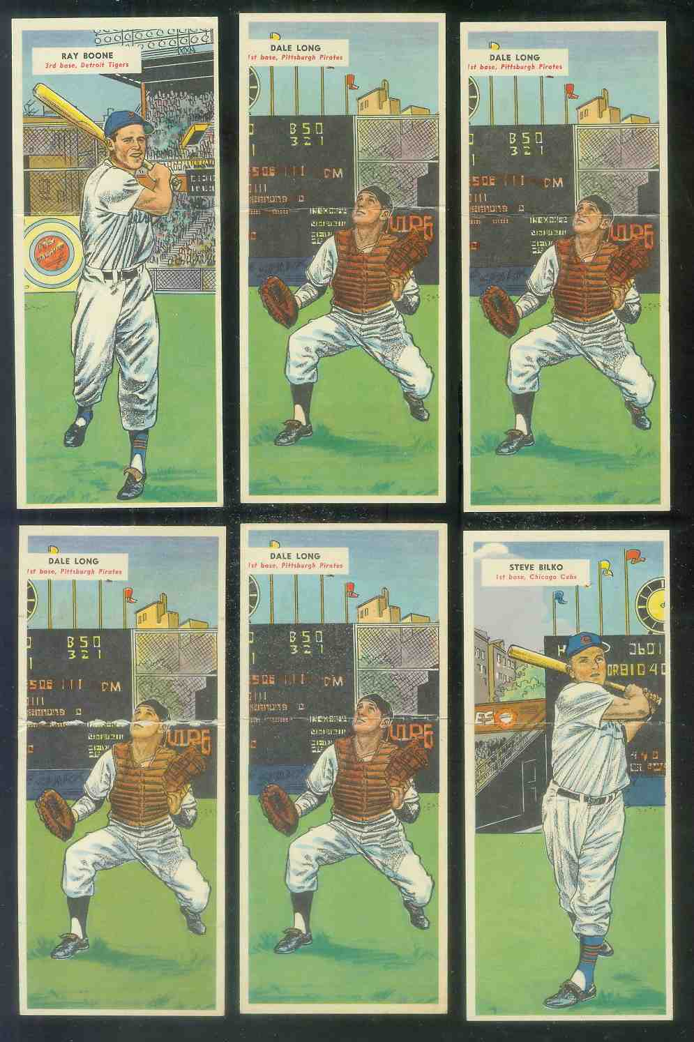 1955 Topps Double Header #113 Ray Boone / #114 Bob Purkey Baseball cards value