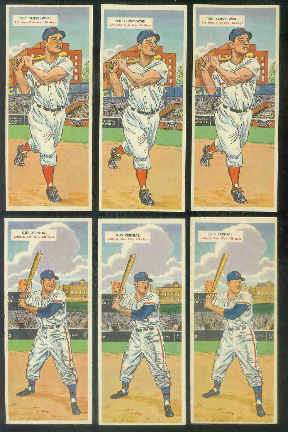 1955 Topps Double Header #121 Ted Kluszewski / #122 Jim Owens [#x] Baseball cards value