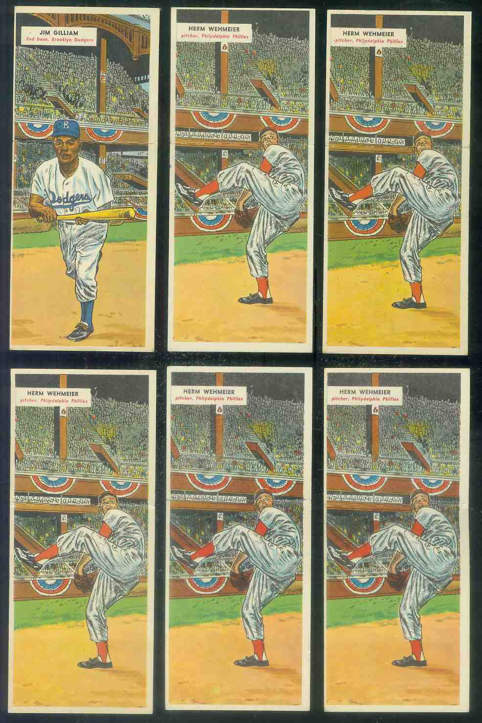 1955 Topps Double Header #131 Herm Wehmeier / #132 Wayne Terwilliger Baseball cards value
