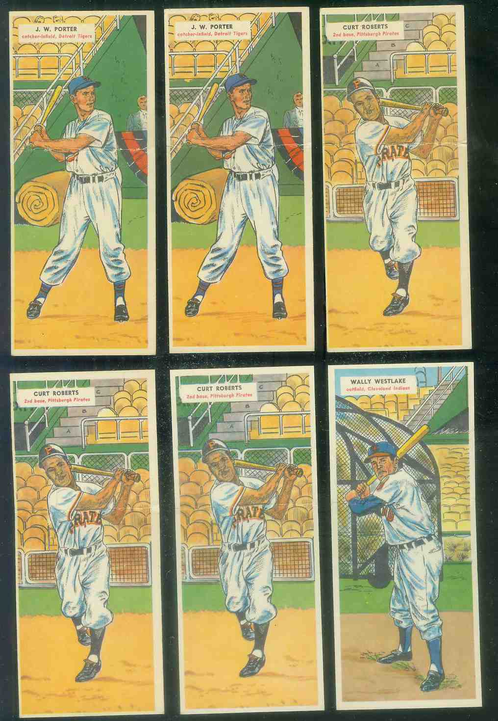 1955 Topps Double Header #.11 Curt Roberts / #12 Arnie Portocarrero [#x] Baseball cards value