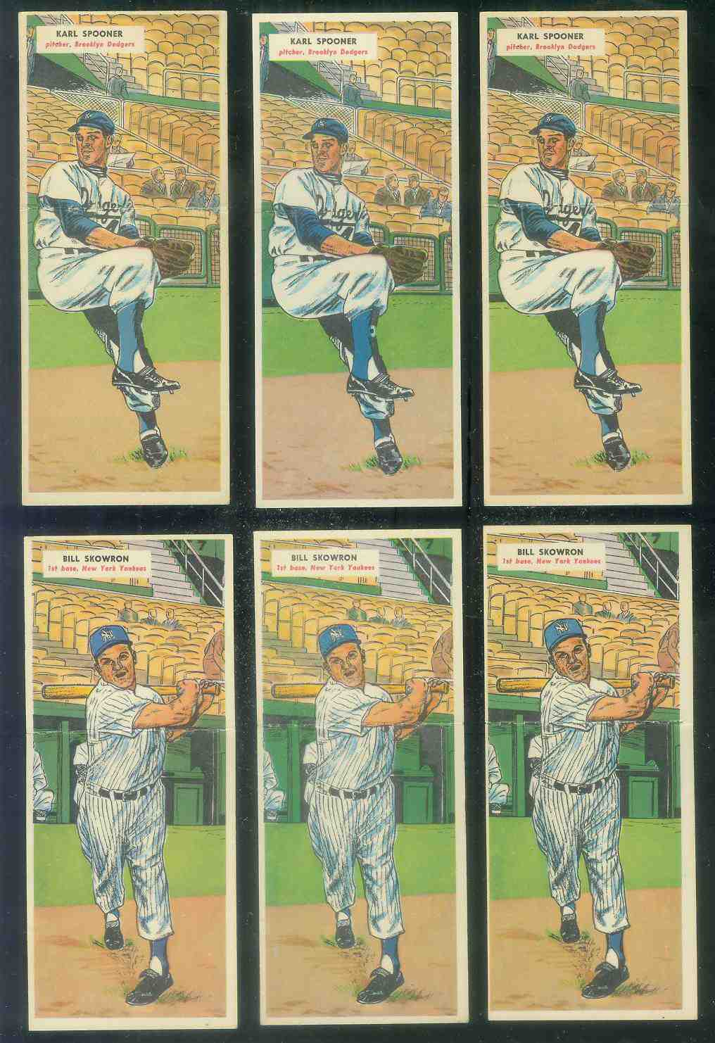 1955 Topps Double Header #.21 Bill Skowron / #22 Frank Sullivan Baseball cards value
