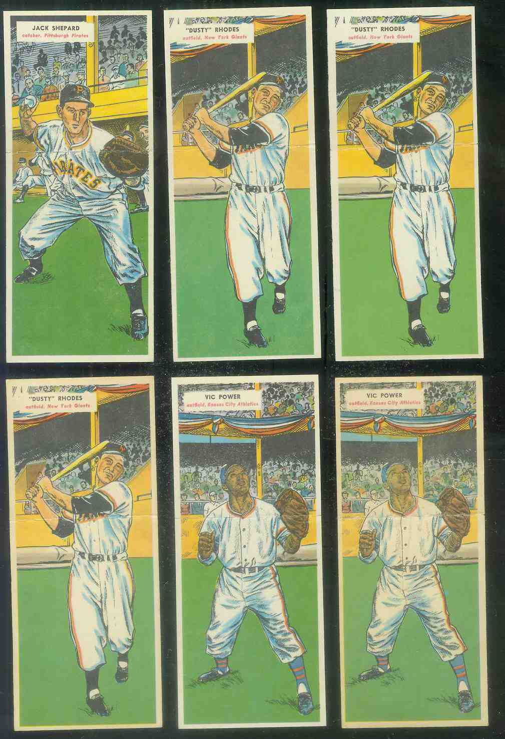 1955 Topps Double Header #.27 Dusty Rhodes / #28 Jim Davis Baseball cards value
