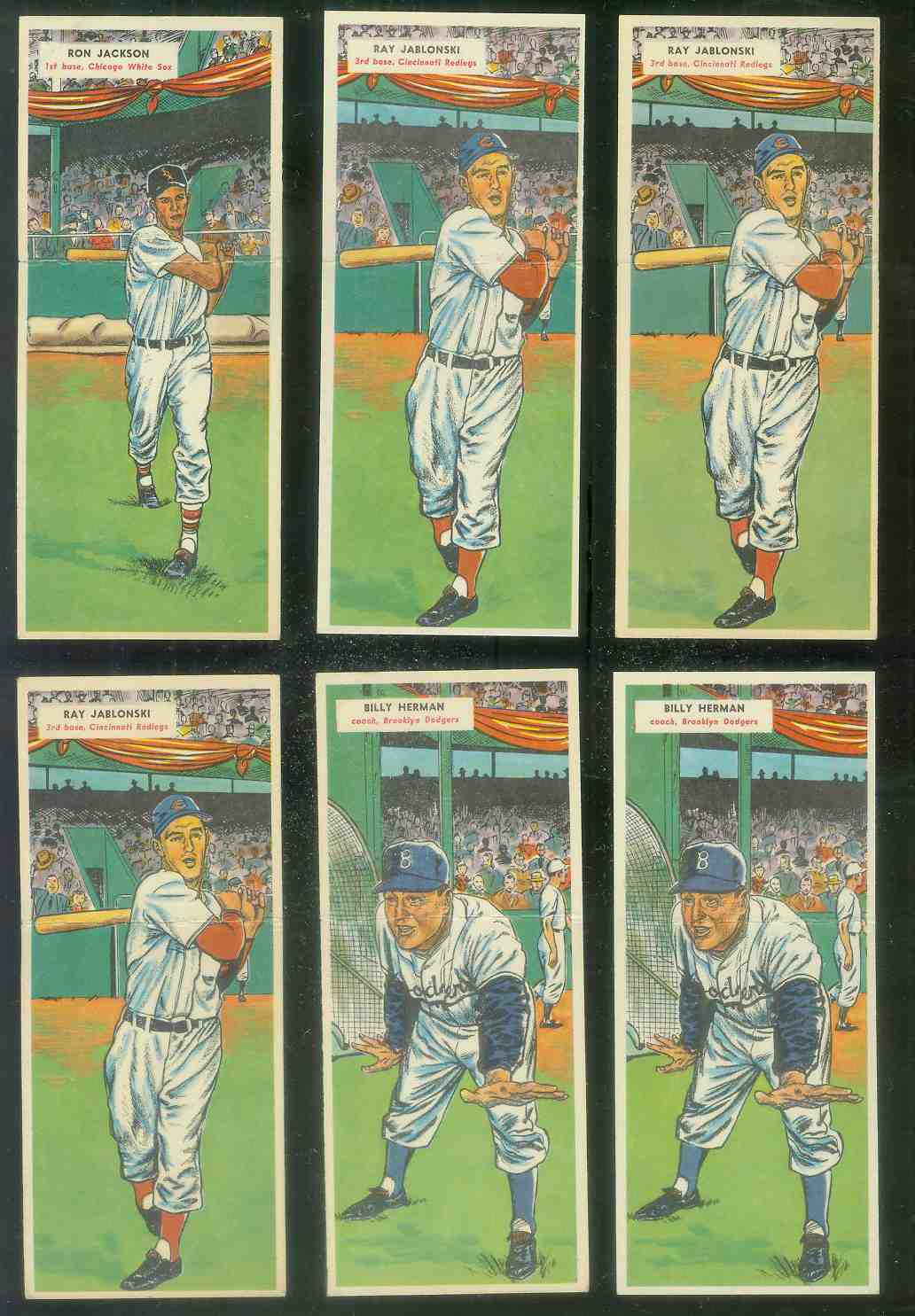 1955 Topps Double Header #.53 Billy Herman / #54 Sandy Amoros ROOKIE Baseball cards value