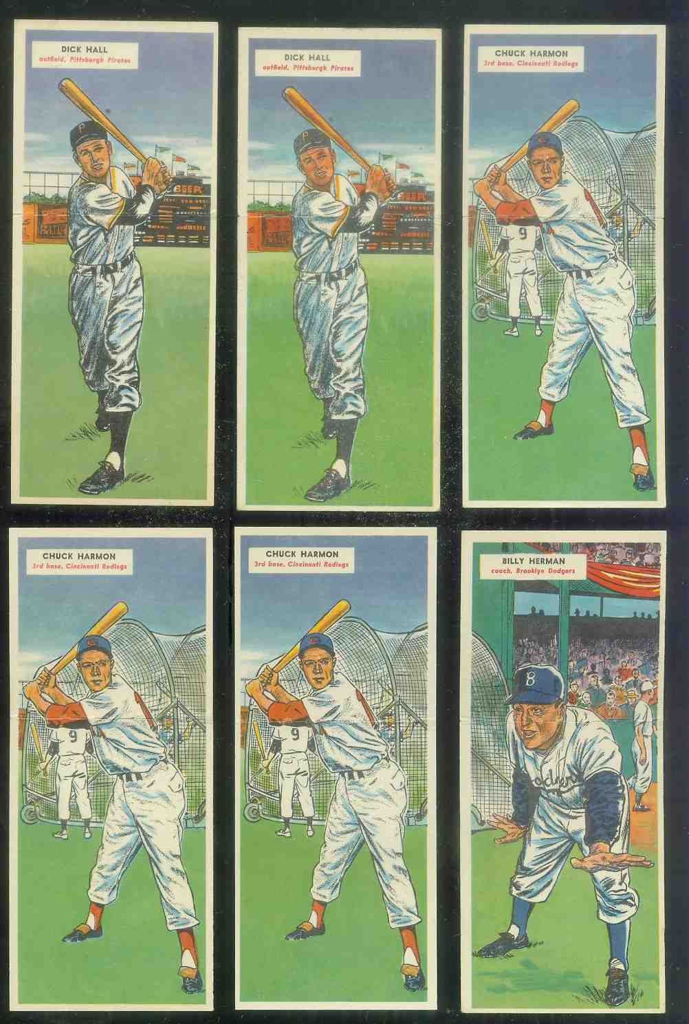 1955 Topps Double Header #.57 Dick Hall / #58 Bob Grim ROOKIE Baseball cards value