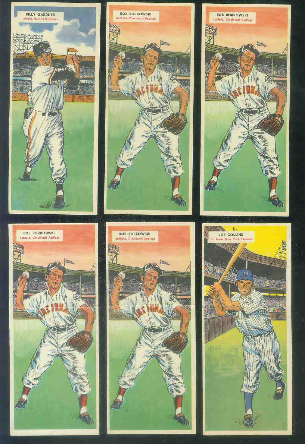 1955 Topps Double Header #.63 Bob Borkowski / #64 Bob Turley Baseball cards value