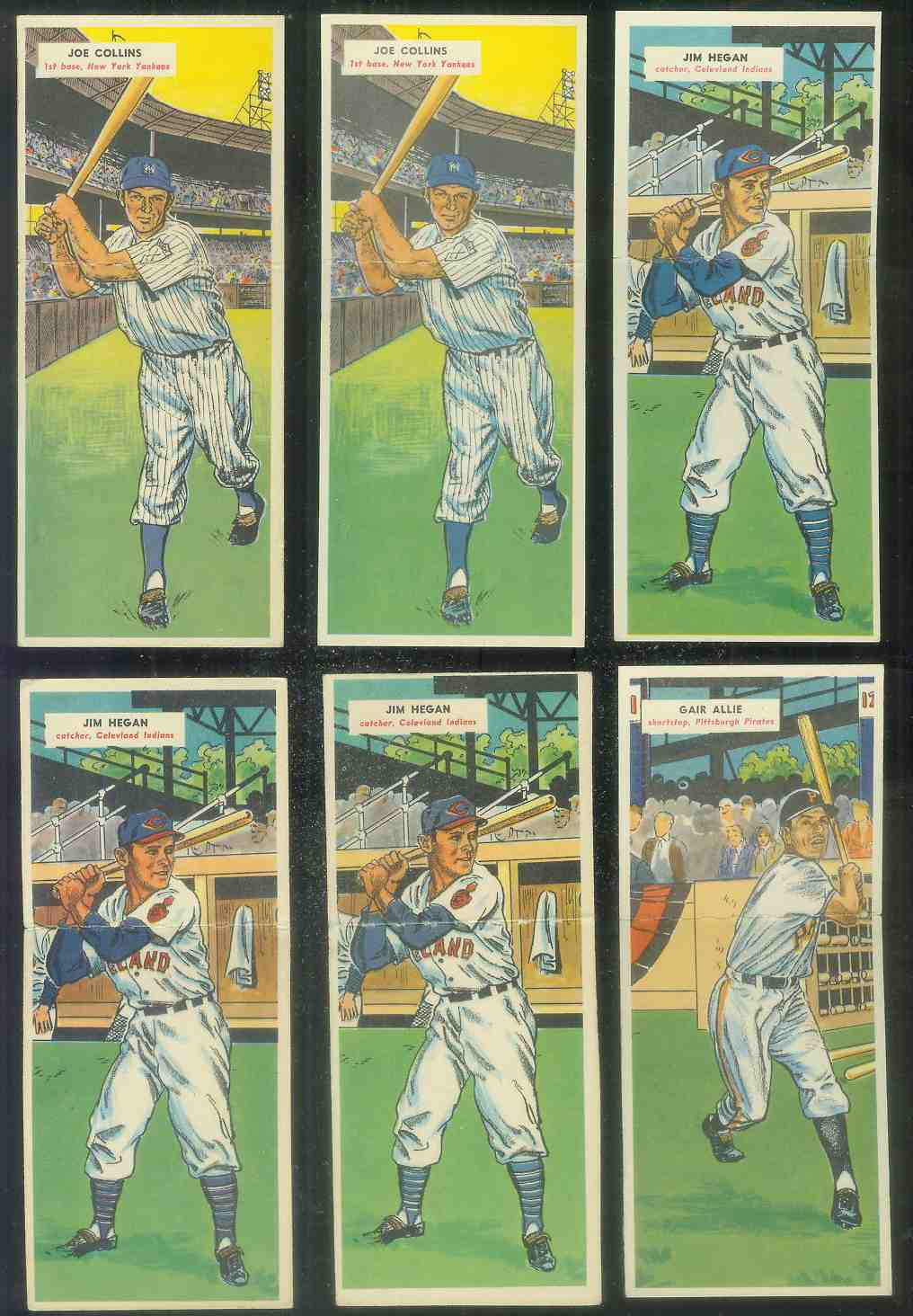 1955 Topps Double Header #.65 Joe Collins / #66 Jack Harshman Baseball cards value