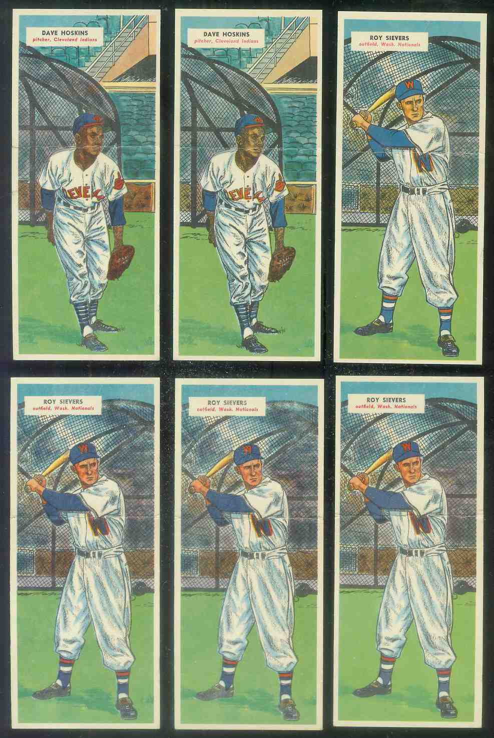 1955 Topps Double Header #.79 Roy Sievers / #80 Art Fowler Baseball cards value