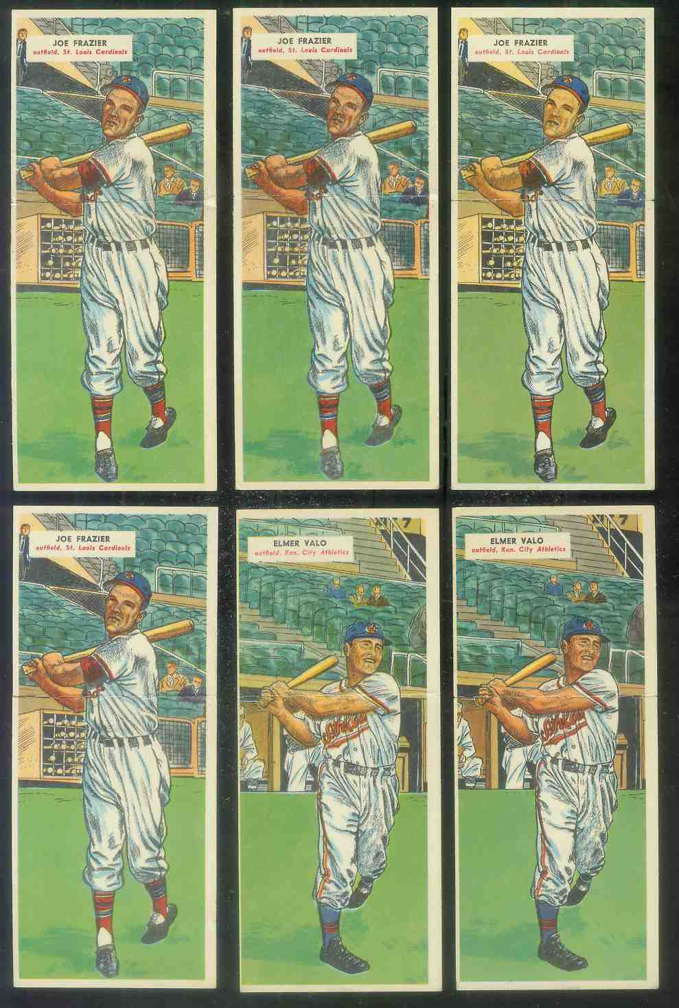 1955 Topps Double Header #.83 Joe Frazier / #84 Don Mossi ROOKIE Baseball cards value