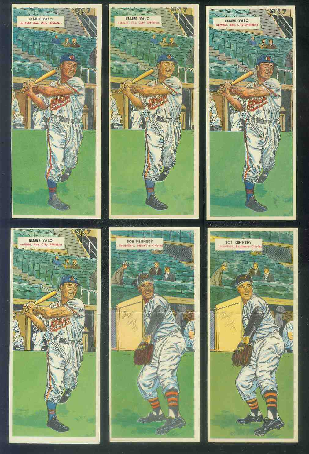 1955 Topps Double Header #.85 Elmer Valo / #86 Hal Brown Baseball cards value